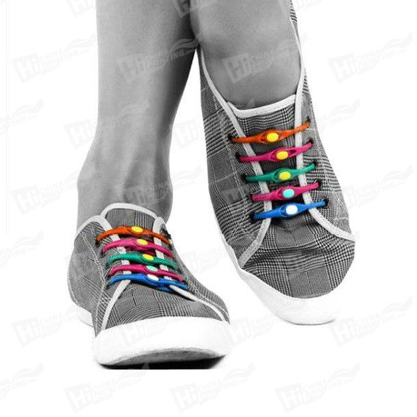 Colorful Silicone Shoelaces