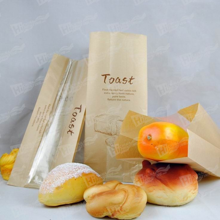 Paper Bread Bags With Window Printing