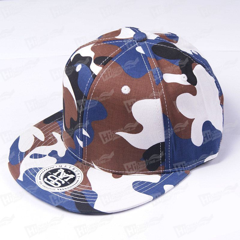 Custom Valucap Bio-Washed Camo Snapback Hat Printing