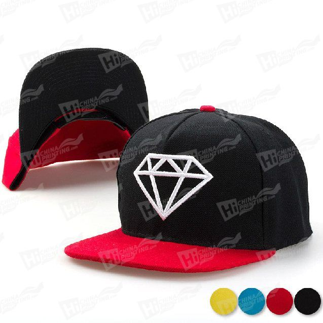 New Era Flat Snapback Hat With Embroidery Logo