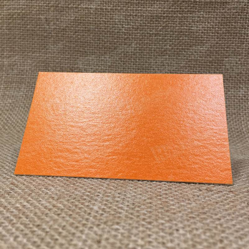 335G Intermills White With Orange Pantone Printed As Background