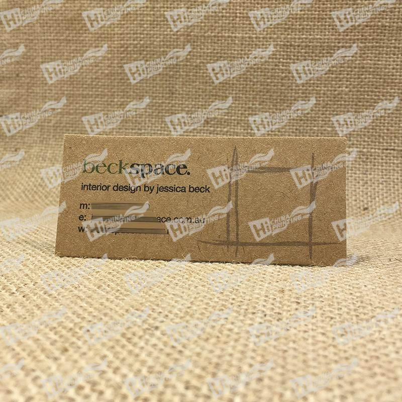 350g Kraft Paper Business Cards For Australia Markets