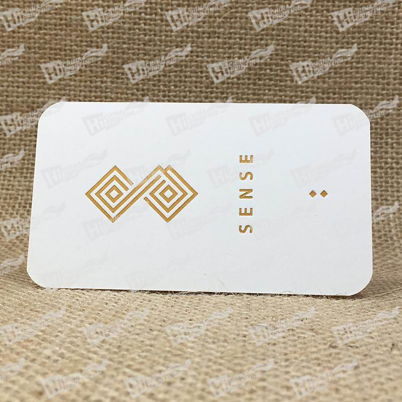 350g Smooth White With Gold Foil And Debossing Business Cards ...