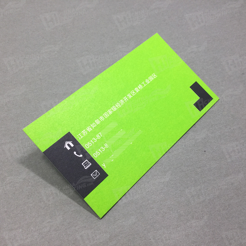 500g Black And Green Business Cards Printing