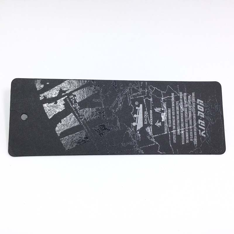 600g Black Swing Tags With Spot UV Map Patterns