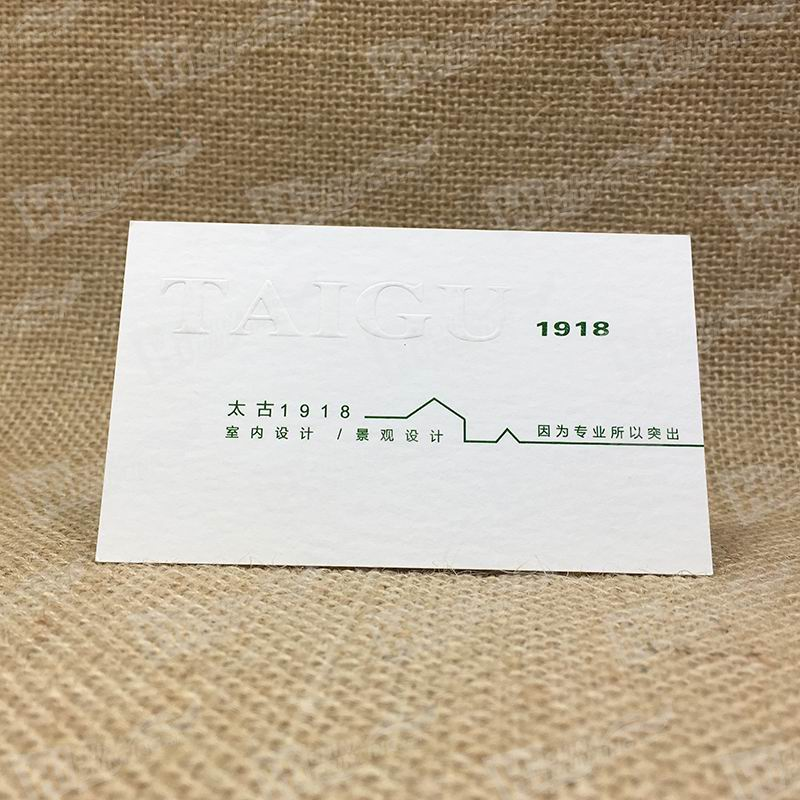Blind Raised Logo Cards Printing Services For Design Company