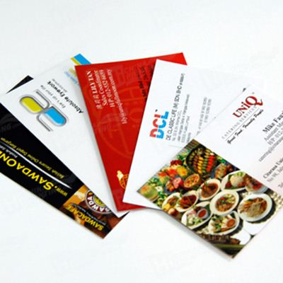 Custom Four Color Art Paper Business Card
