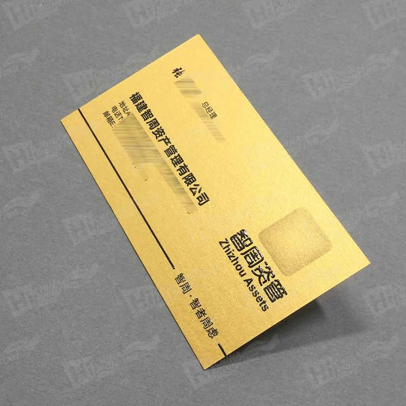 Gold Metallic Business Cards With Raised Letters