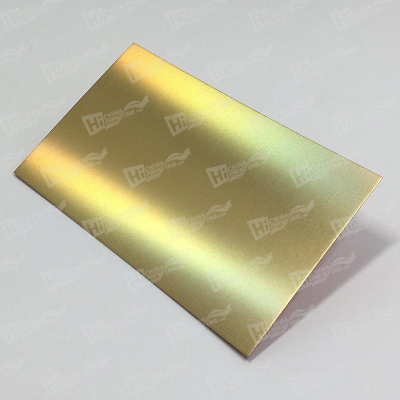 Holographic Gold Business Cards Printing Services