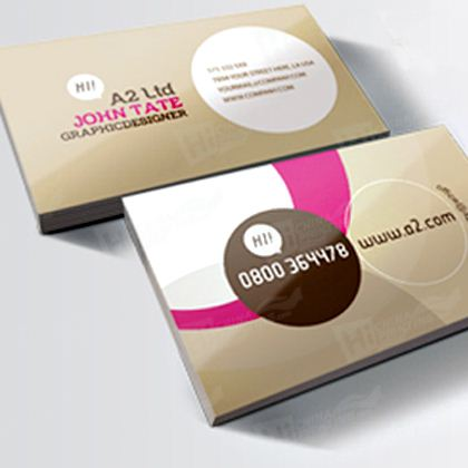Ivory Board Business Card Printing