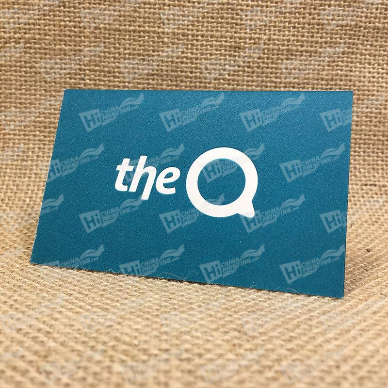 Letterpress The Q Business Cards With Pantone Ink Printing