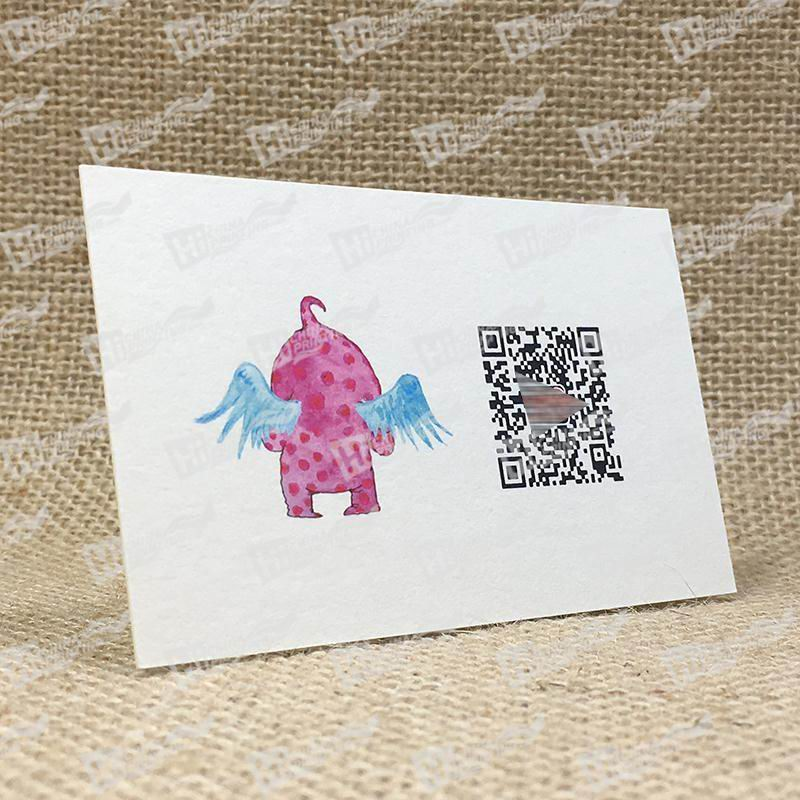 QR Code Business Cards With Painted Angel