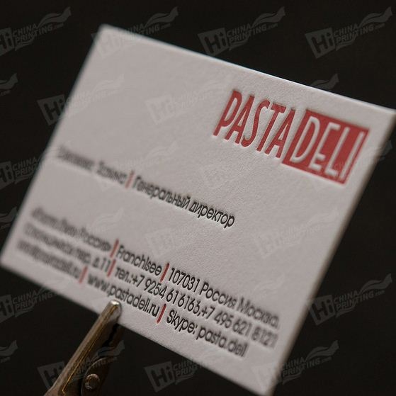 Raised Business Cards Printing