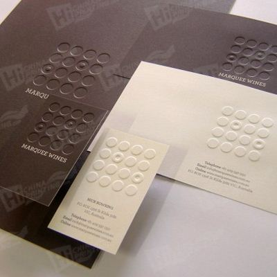Special Debossing Business Card Printing Service - Click Image to Close