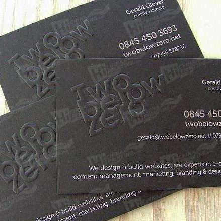 Special Debossing Business Card Printing Service