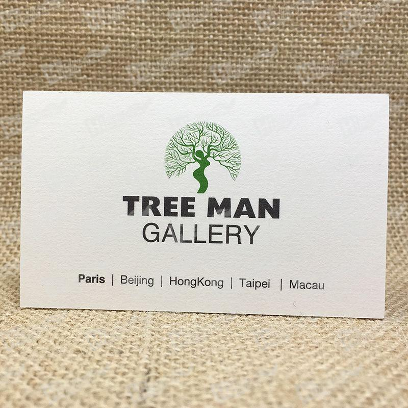 Thick Business Cards Printing With A Tree Man