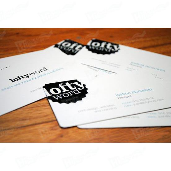 Unique Offset Printing Paper Card In Black Or White