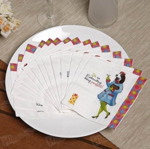 Colorful Napkins Printing