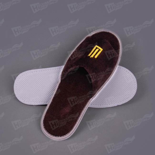Pleuche Plush Slippers With Embroidered Hotel Logo