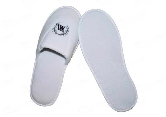 Velvet Slipper With Embroidered Hotel Logo