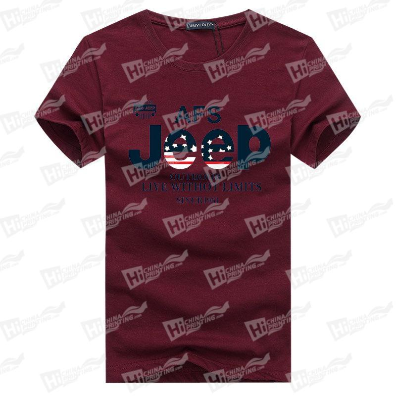 AFS Jeep Men's T-Shirts With Heat Trasnfer Printing