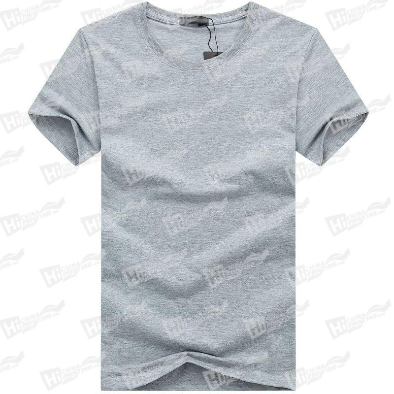 Blank Men's Short-Sleeve T-shirts Stock For WholeSale--Grey T-Shirts