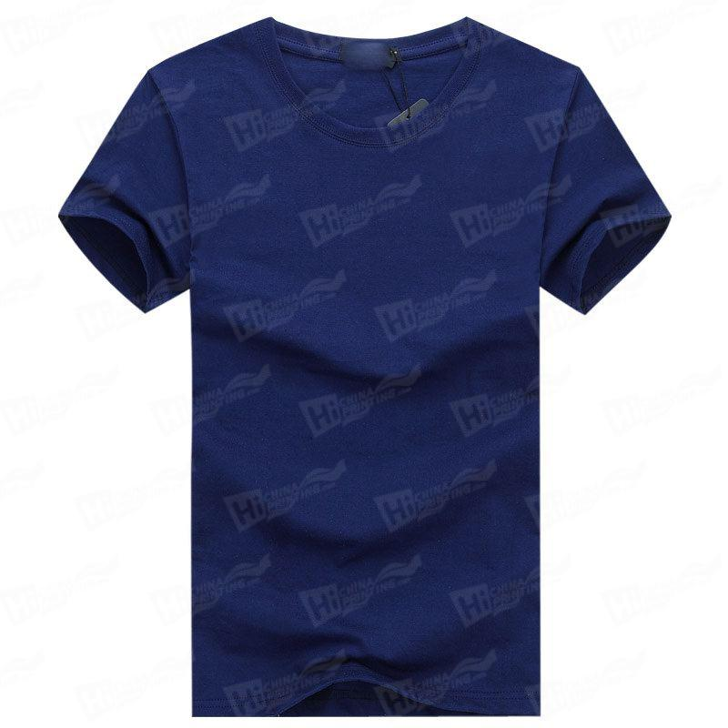 Blank Men's Short-Sleeve T-shirts Stock For WholeSale--Royal Blue T-Shirts