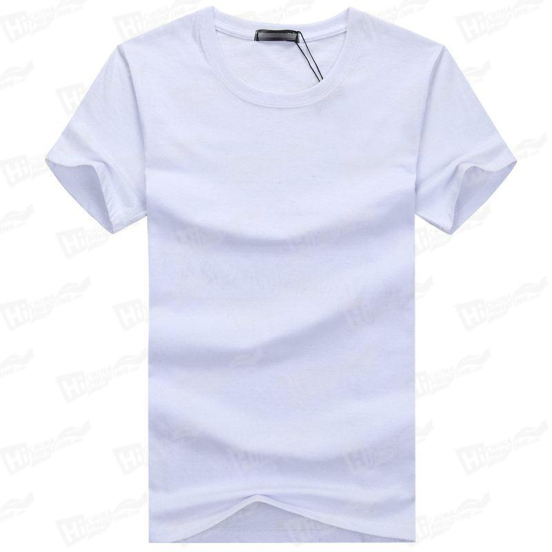 Blank Men's Short-Sleeve T-shirts Stock For WholeSale--White T-shirts