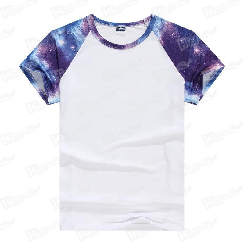 Blank Men's Starry Sky Raglan Short-Sleeve T-shirts For Wholesale