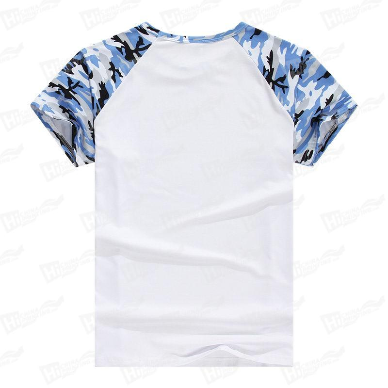 Camouflage Starry Sky Raglan Short-Sleeve T-shirts For DIY