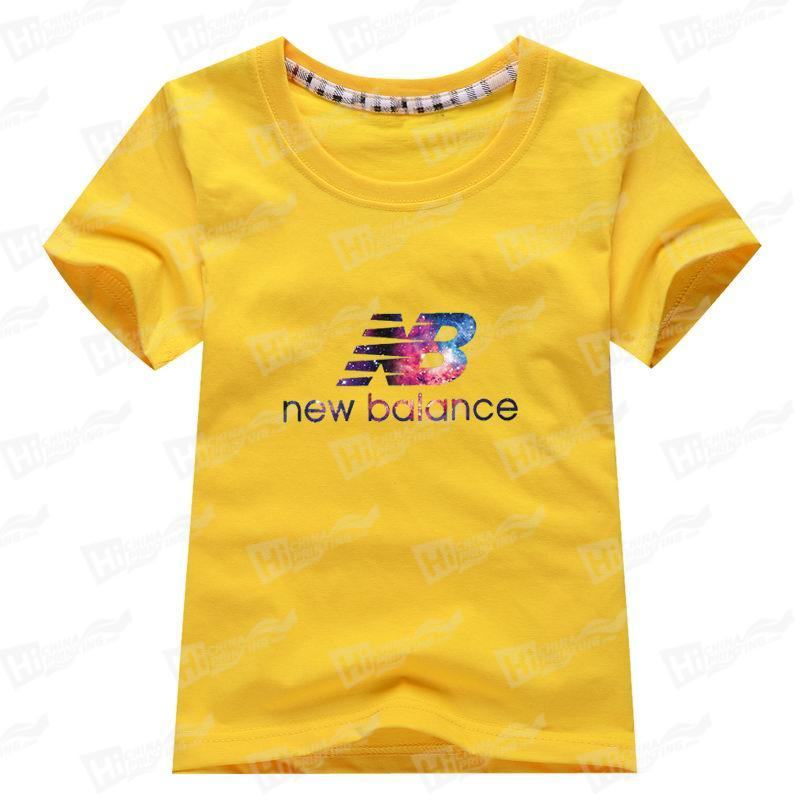 Colorful New Balance Kids' Short-Sleeve T-shirts Printing For Wholesale