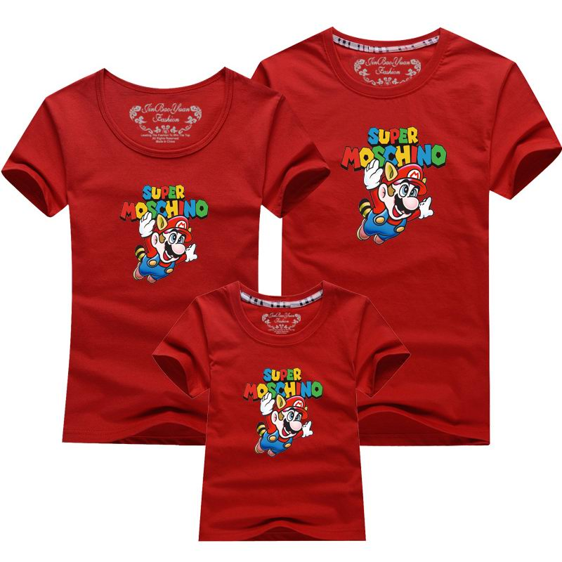 Colorful Super Marie Printed T-shirts For Family Matching Outfits-Custom T-shirts