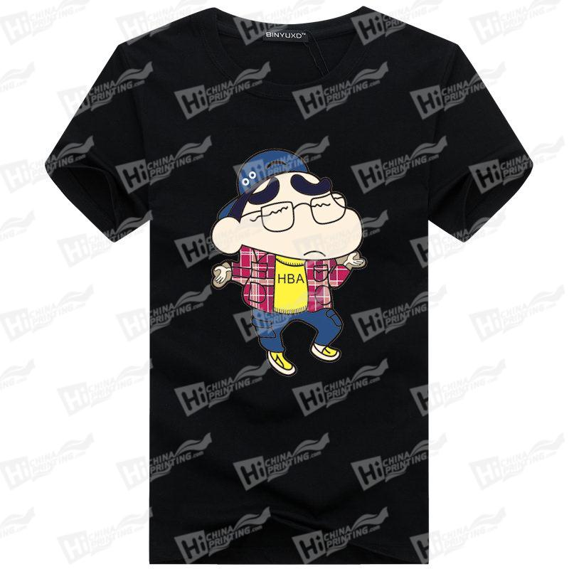 custom cartoon t shirts with heat transfer printing t shirts cheap