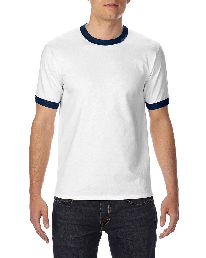 Shirt design gildan - Custom T Shirts Printing Gildan 180g Adult Ringer T Shirts