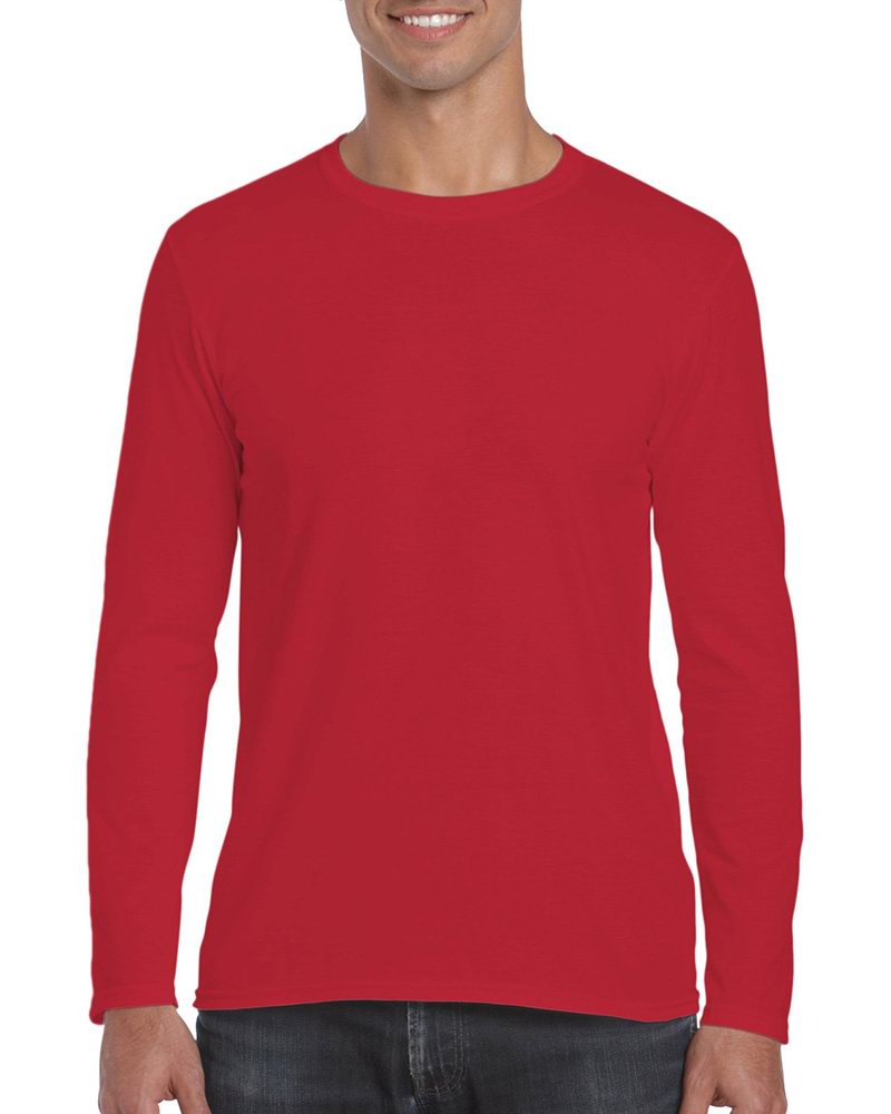 Custom Tees Printing Service-Gildan 180g Men's Long-Sleeve T-shirts