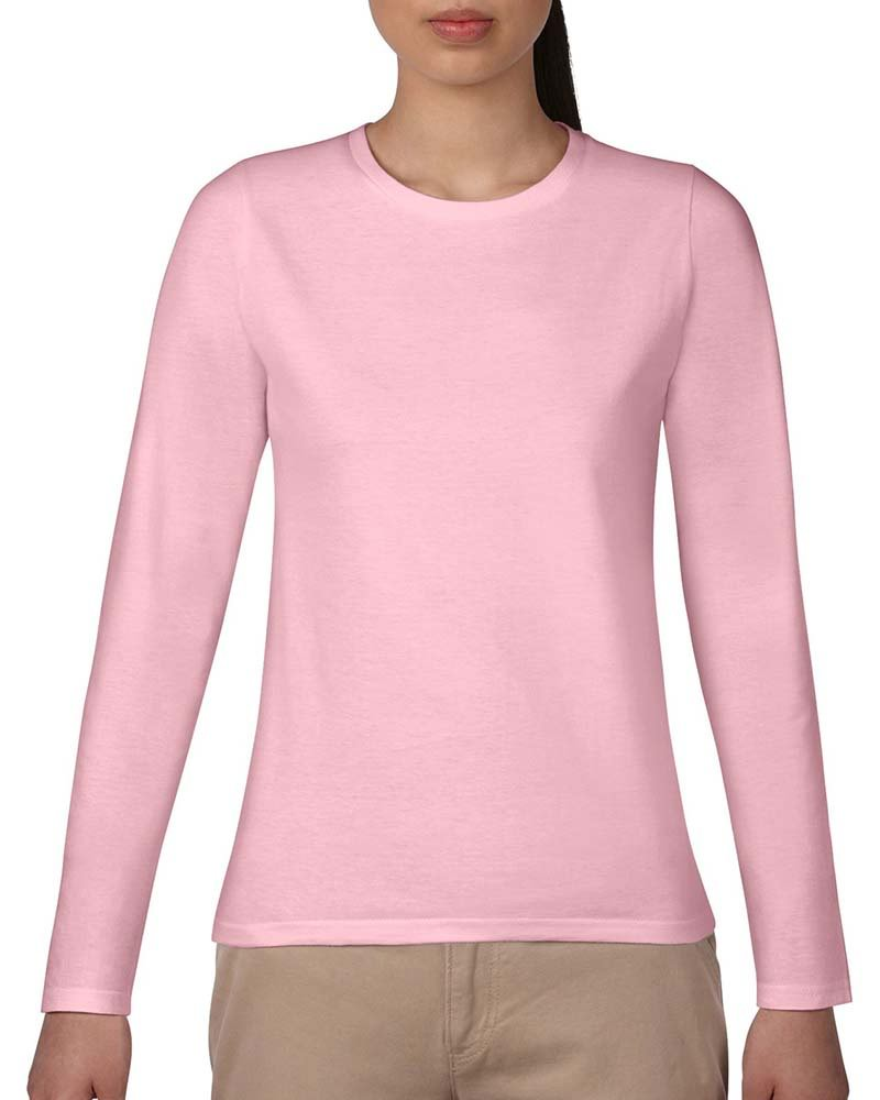 Custom Tees Printing Service-Gildan 180g Women's Long-Sleeve T-shirt