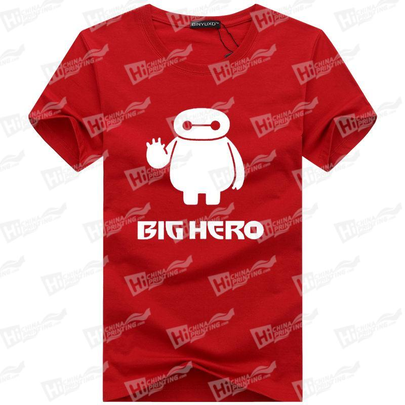 Cute Baymax Men's T-shirts Printing Services