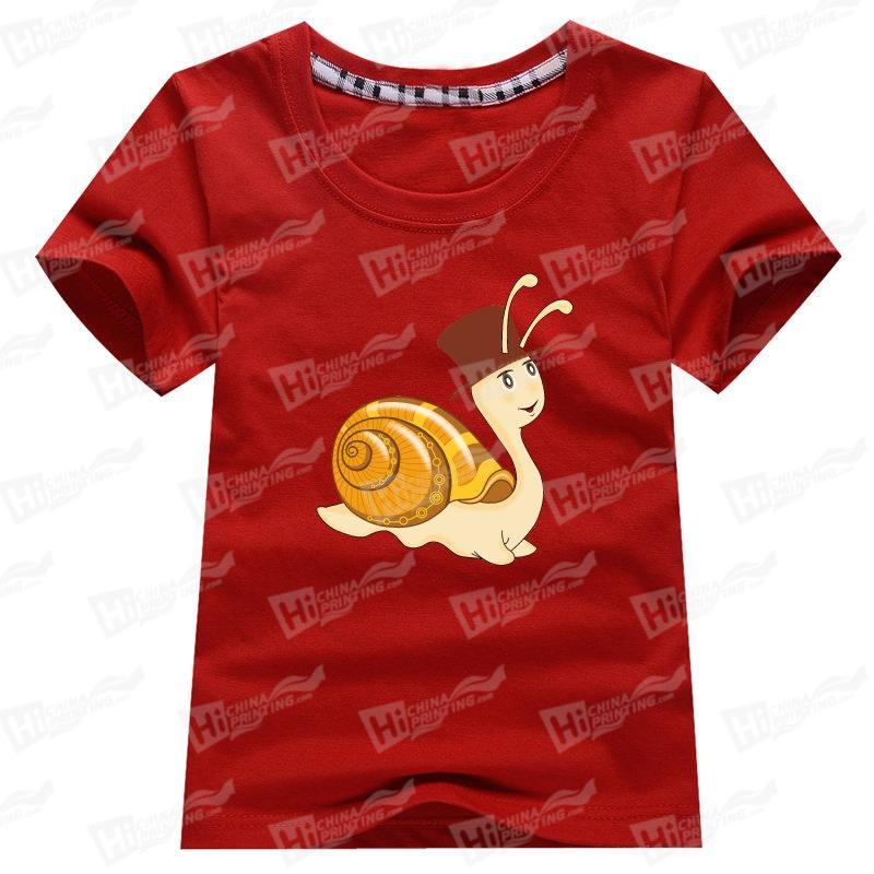 Cute Snail With Lovely Hat Baby's Short-Sleeve T-shirts Printing Services For Family Matching Outfits