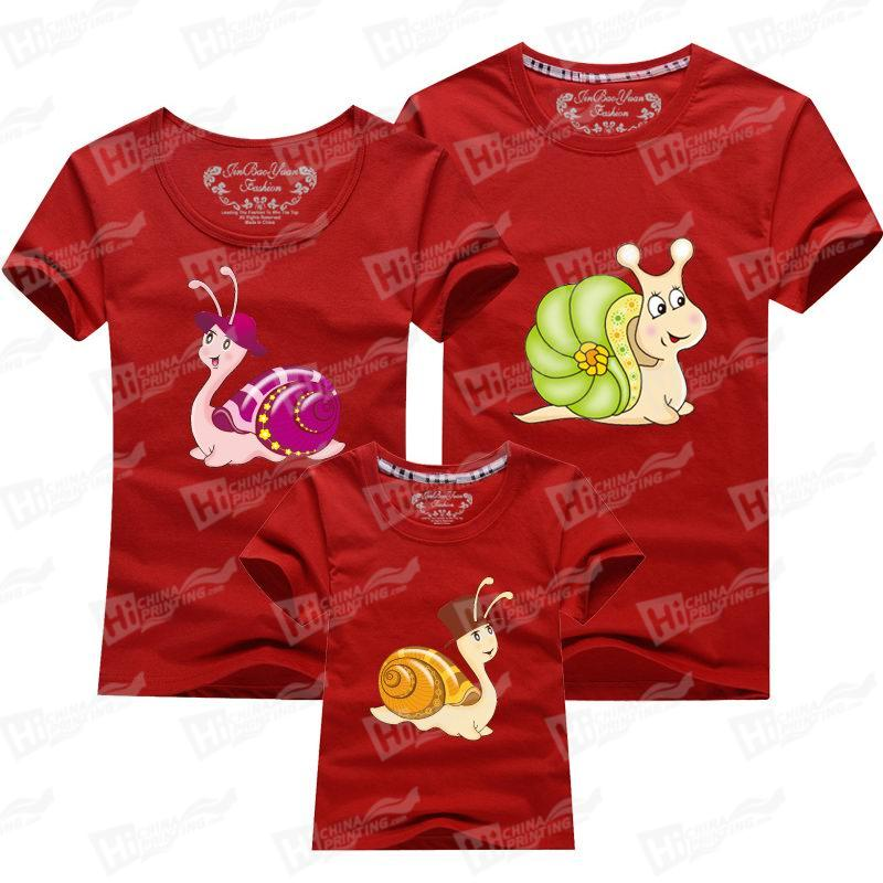 Cute Snail With Lovely Hat Short-Sleeve T-shirts Printing Services For Family Matching Outfits
