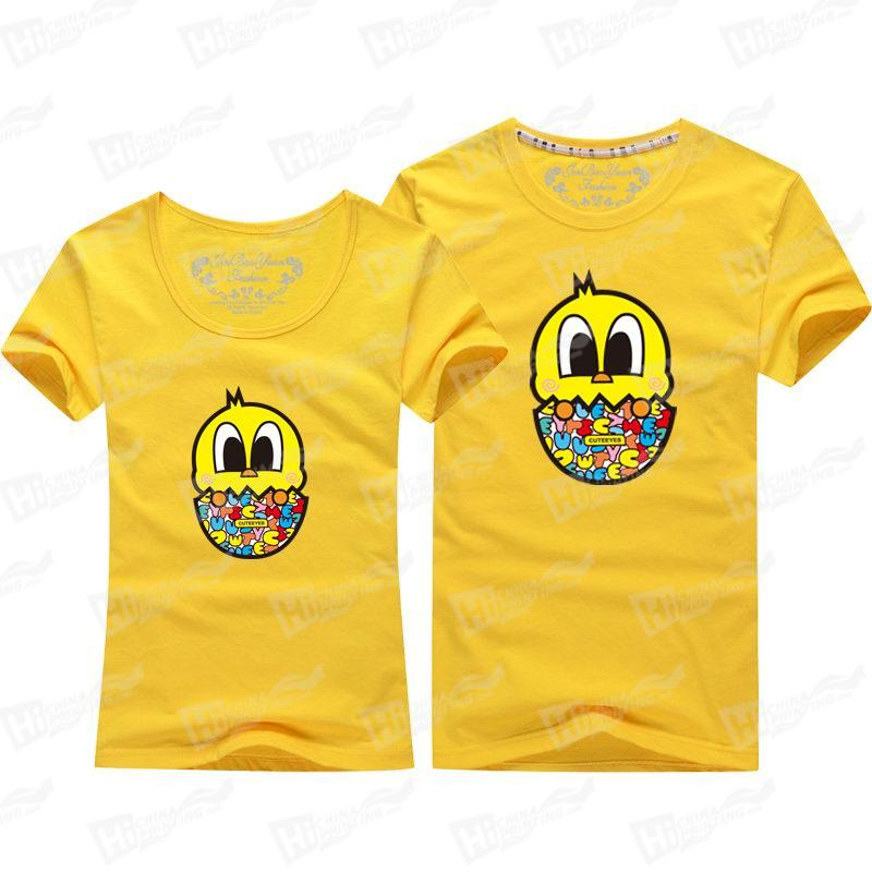 Cute Yellow Duck Egg T-shirts For Lovers Matching Outfits For Wholesale