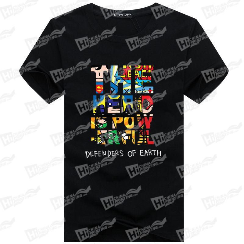 Defenders Of Earth Men's T-shirts With Heat Transfer Printing For Wholesale