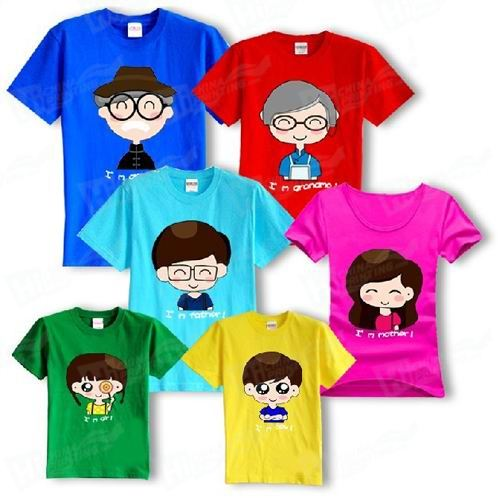 Family Fitted T-shirts Printing