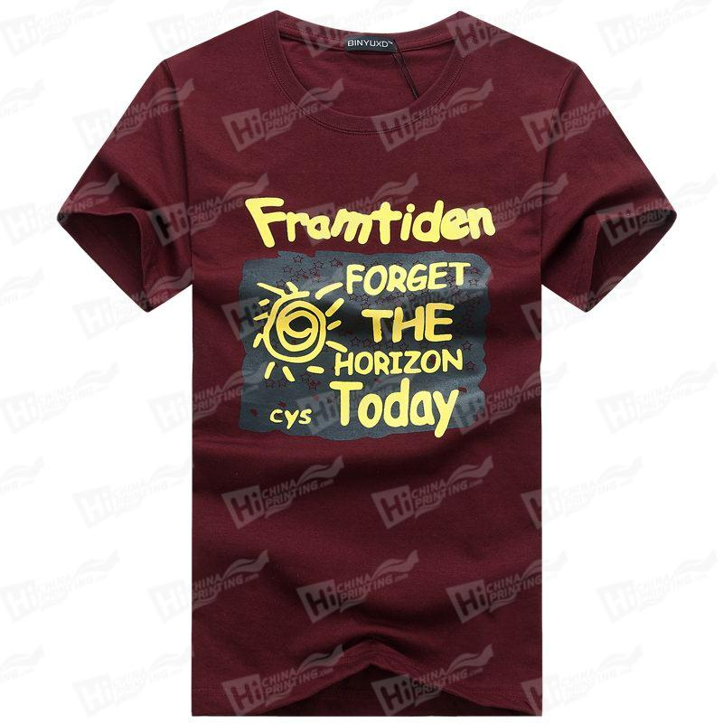 Forget The Horrizon Today--Screen Printed Men's Short-Sleeve Tee Shirts For Wholesale