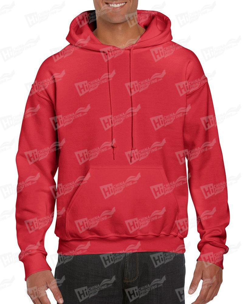 Gildan Men's Pullover Hood Sweatshirt-Red