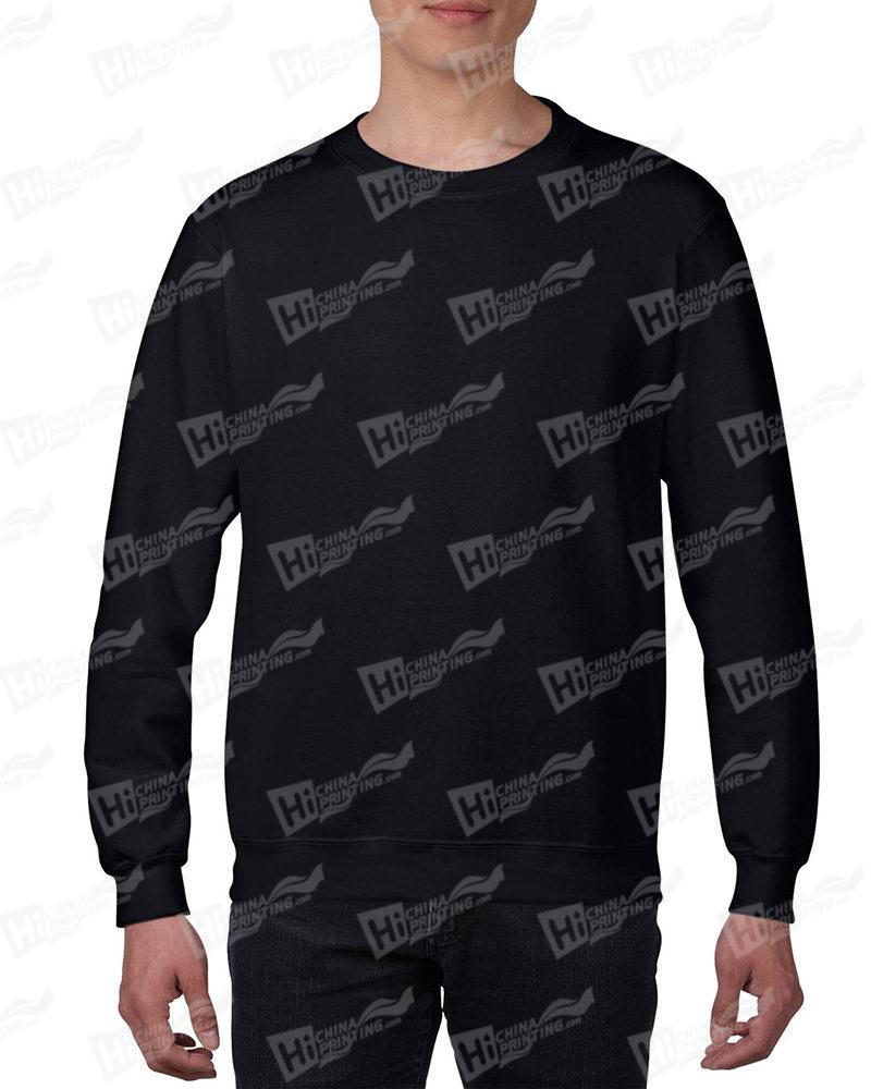 Gildan Mens Sweatshirt For DIY-Black One