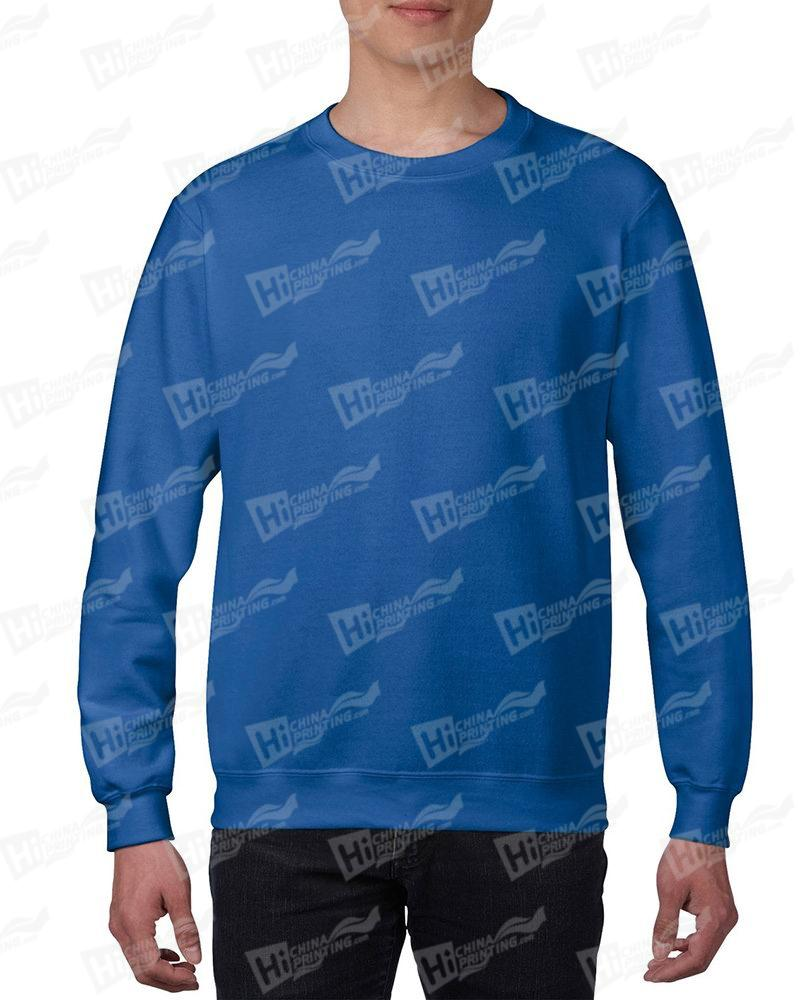 Gildan Mens Sweatshirt For DIY-Blue One