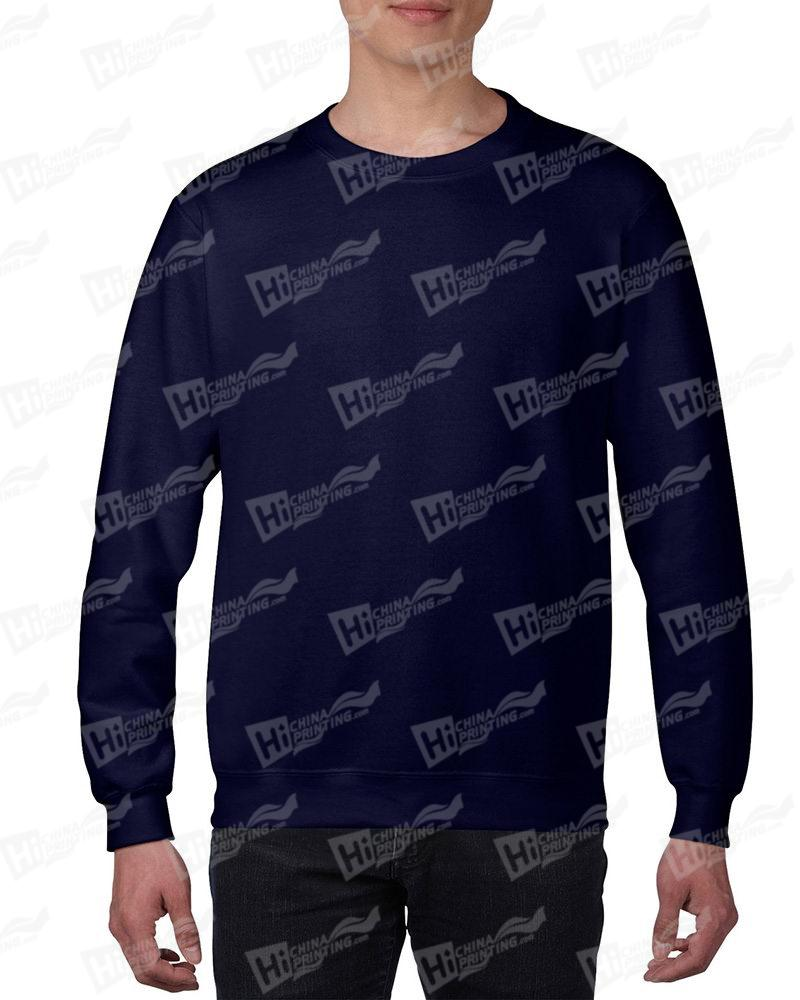 Gildan Mens Sweatshirt For DIY-Navy One