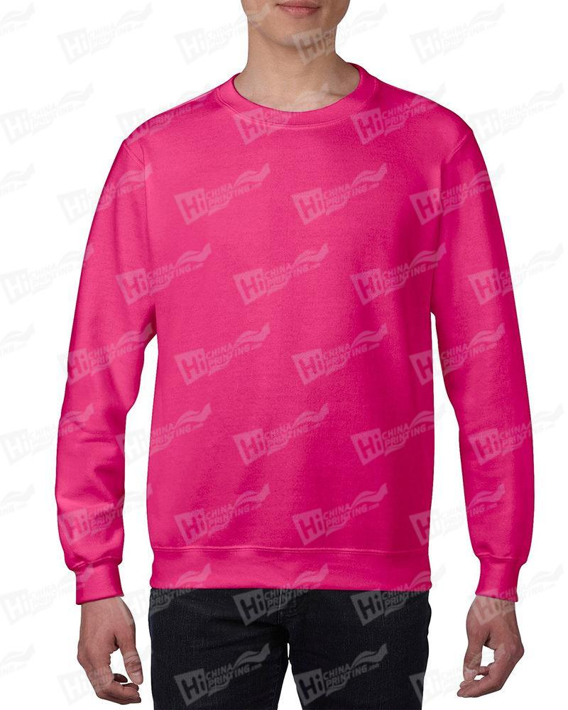 Gildan Mens Sweatshirt For DIY-Pink One