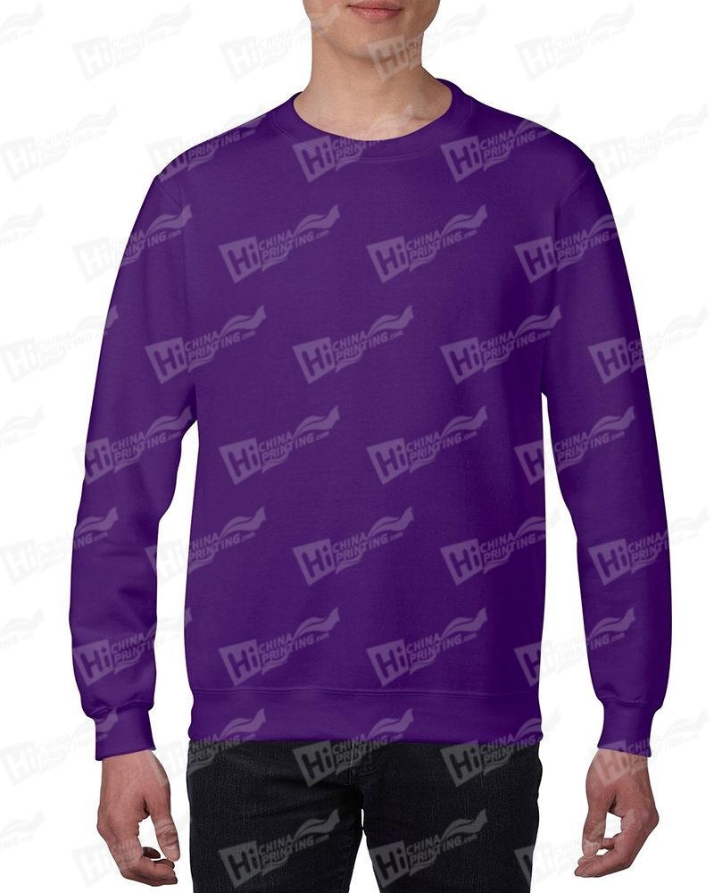 Gildan Mens Sweatshirt For DIY-Purple One