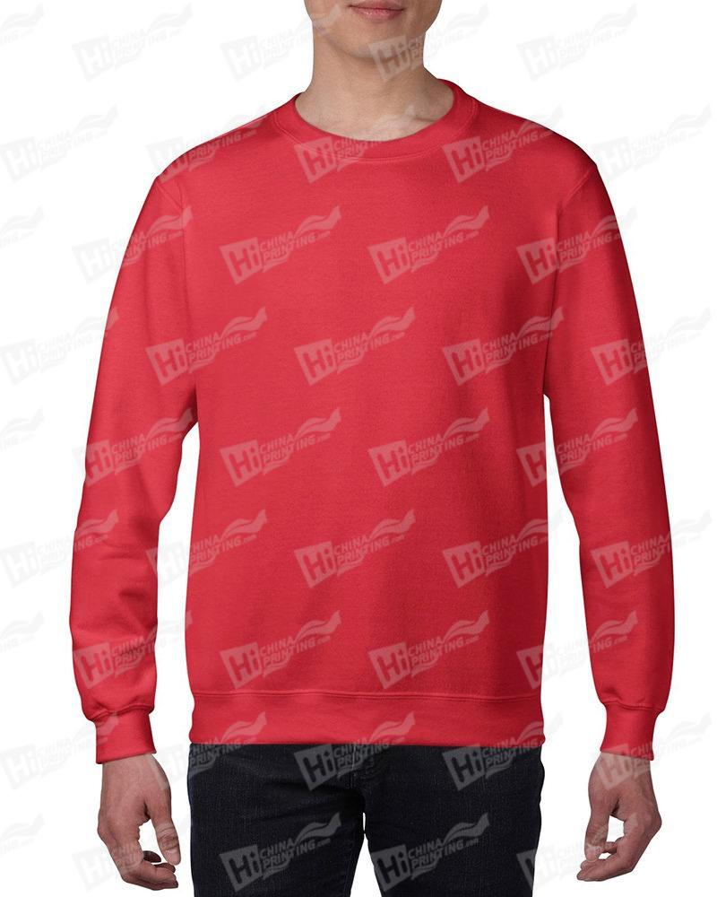 Gildan Mens Sweatshirt For DIY-Red One